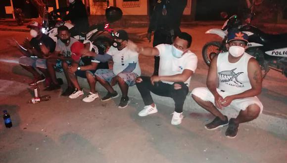 Piura: intervienen a 10 personas bebiendo licor en la vía púbica y sin usar mascarilla en pleno toque de queda (Foto: Municipalidad Provincial Talara)