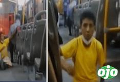 Los Olivos: Sujeto escupe a mujer dentro de bus de transporte público por no darle dinero | VIDEO