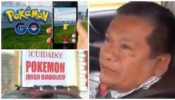 Pokémon Go en Perú: Pastor va a poképaradas a decir que juego 'es del diablo' [VIDEO]
