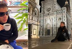 John Kelvin pasea por tiendas y hace turismo pese a que Italia está en cuarentena│VIDEO