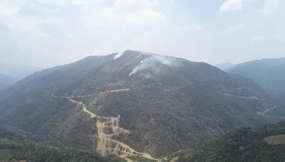 Puno: se reduce a cuatro los sectores con focos de incendio forestal en Putina (Foto: Gore Puno).