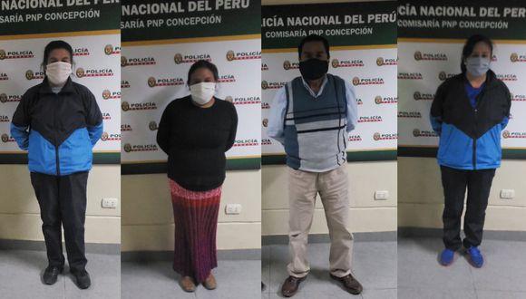 Junín: Detienen a un grupo de profesores que bebían licor dentro de colegio, donde se reunieron, supuestamente, para coordinar sus clases virtuales. (Foto PNP)