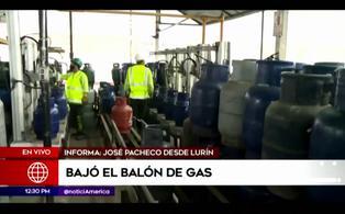 Precio del balón de gas disminuye a S/44 en varias zonas del Perú