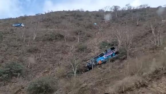 Identificación de fallecidos y heridos de accidente en la provincia de Pataz (La Libertad) aún continúa en proceso. (Captura: América Noticias)