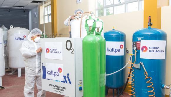 Huancavelica: entregan moderna planta de oxígeno para pobladores del Vraem (Foto: Kallpa)