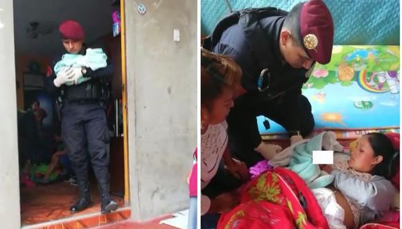Policía ayuda en labor de parto