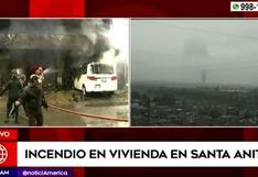Santa Anita: se desata fuerte incendio en edificio de seis pisos | VIDEO