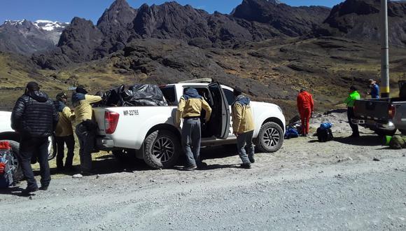 El cadáver fue trasladado a la comisaría de Macusani para las diligencias del caso. (Foto: GEC)