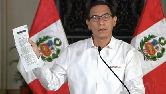 El presidente Martín Vizcarra se pronunció hoy en Palacio de Gobierno con respecto a los últimos audios en donde se le vincula con Richard Swing, entre otras cosas