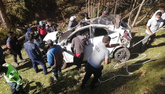 El accidente de tránsito se registró cerca del centro poblado de Junipalca, en Pasco