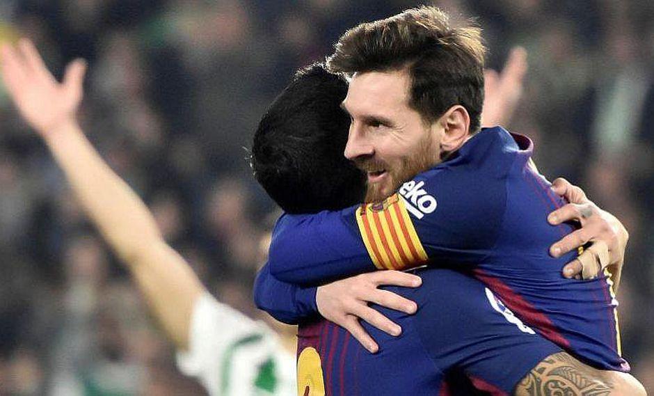 Barcelona golea 5-0 al Real Betis con doblete de Lionel Messi