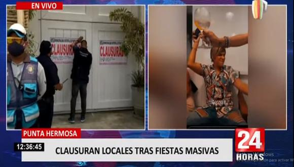 Josué La Torre, gerente municipal de Punta Hermosa, detalló que dichos establecimientos, en el contexto de la pandemia del COVID-19, pasaron de ser discotecas a restaurantes, pero no cumplieron con las normas  sanitarias.  (Foto: 24 Horas)