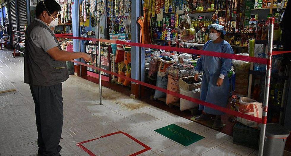 Vraem: instalan cintas de seguridad y micas de protección en mercado de Pichari