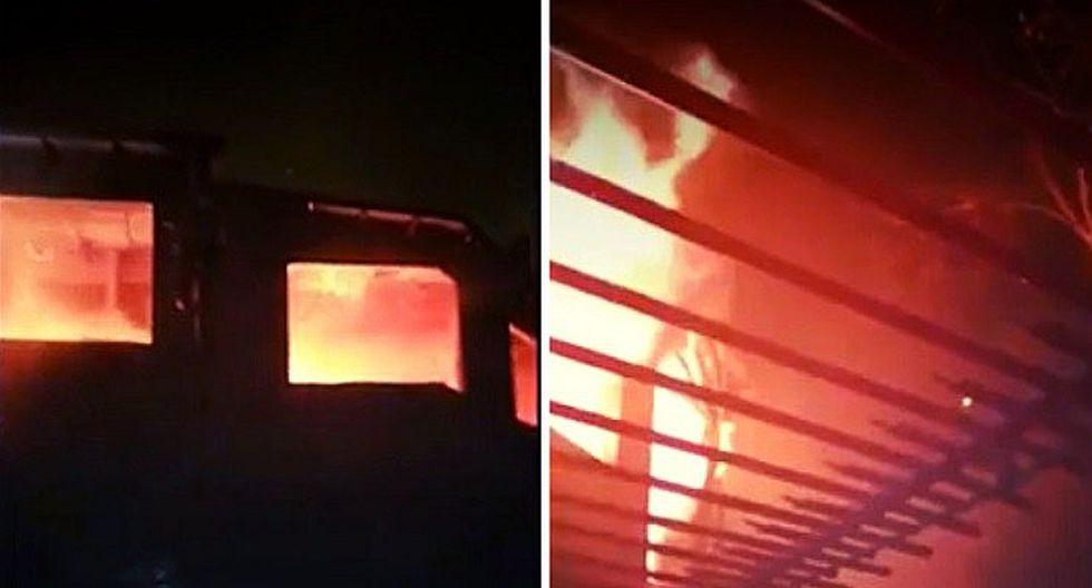 La Molina: encuentran a tres personas muertas en interior de vivienda que ardía en llamas (FOTOS)