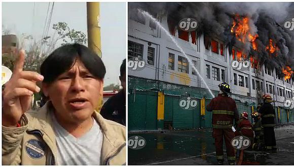 Incendio en Las Malvinas: papito de desaparecido y la valerosa propuesta que hizo (VIDEO)