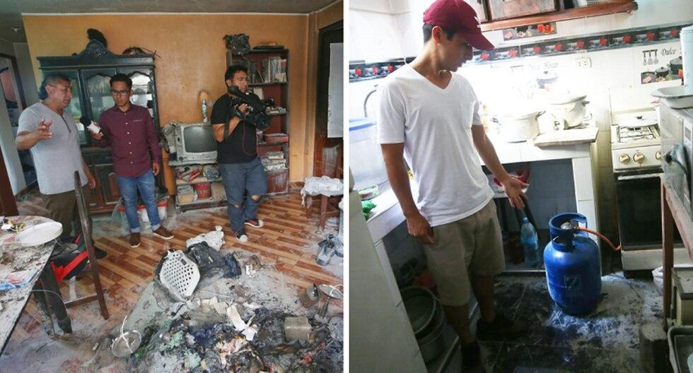 Familia Rivero pierden a su sobrino de 9 y tío de 14 años , causado por explosión de gas en departamento de La Victoria.  Fotos: Gonzalo Córdova