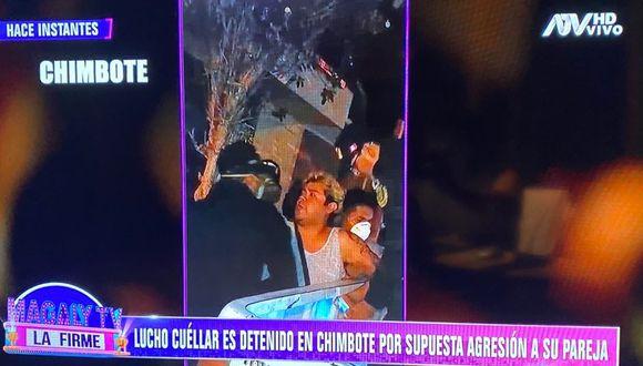 Lucho Cuellar es detenido en Chimbote por presunta agresión a su pareja. (Foto: ATV)