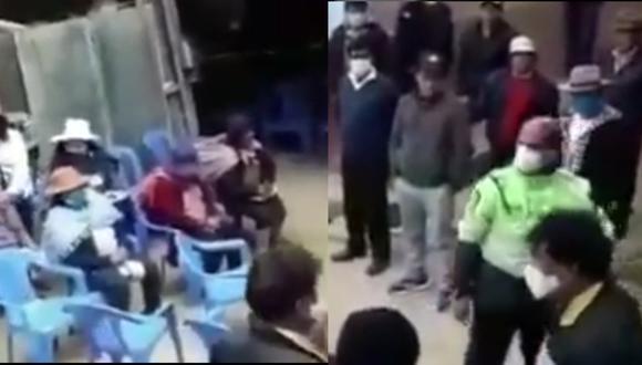 Junín: Intervienen a 100 personas dentro de velorio en plena cuarentena. (Foto: captura de pantalla)