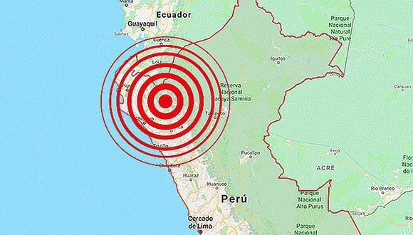 Sismo de magnitud 3.6 se registró esta mañana en Cajamarca