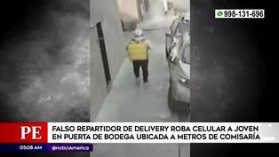 Falso repartidor de delivery roba el celular a una joven cerca a una comisaría en Los Olivos