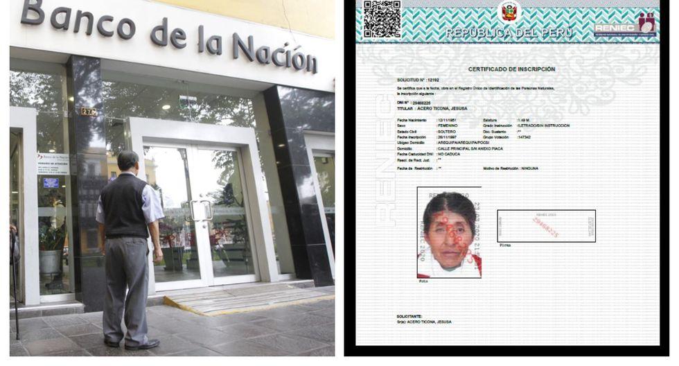 Reniec anuncia la entrega gratuita del certificado de inscripción a los que no tienen DNI para cobro de bono de 380 soles. (Foto: Andina/Reniec)