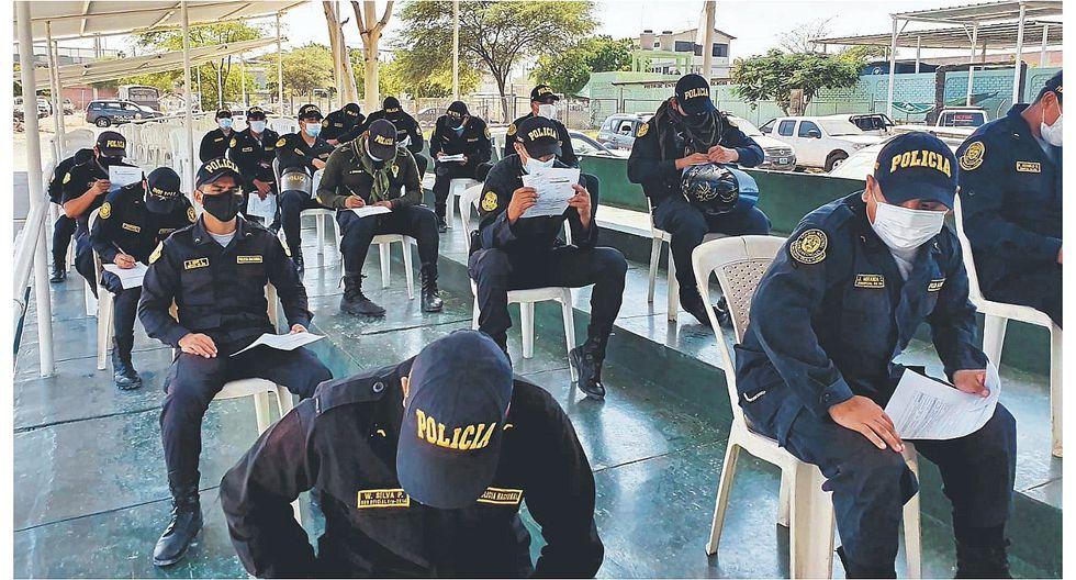 Los agentes que fueron diagnosticados con coronavirus cumplen cuarentena. (Foto: PNP)