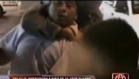 Trujillo: Detienen a chico de trece años que cobraba cupo [VIDEO]