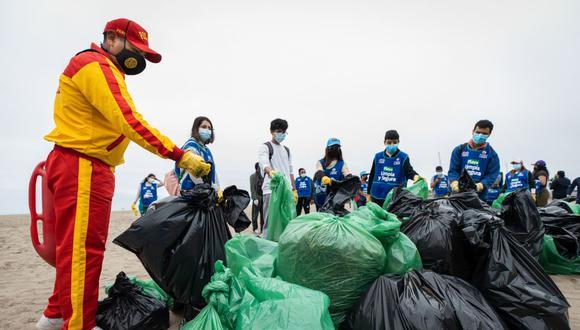 La Municipalidad de Lima indicó que, con esta actividad, se espera contribuir con la buena gestión ambiental de las playas y promover la importancia de mantener limpias estas áreas para la conservación del ecosistema marino.  (Foto: MML)