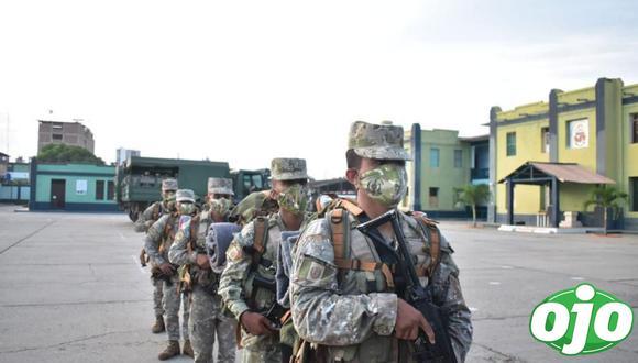 Despliegue de policías y militares es en todo el territorio nacional para garantizar la jornada electoral de este domingo 11 de abril. (Foto: @CCFFAA_PERU)