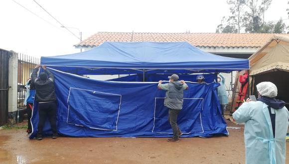 Apurímac: entregan módulos al centro de salud que sufrió un incendio en Ocobamba (Foto: Gore Apurímac)