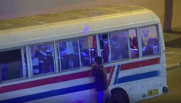 Cámaras de seguridad captaron al delincuente en pleno robo. en la avenida Abancay. (GEC)