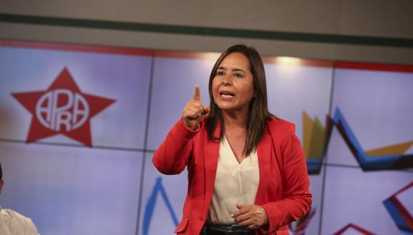 Nidia Vílchez se quedó sin candidatura presidencial en las Elecciones 2021 por el Apra. (Foto: Britanie Arroyo / GEC)