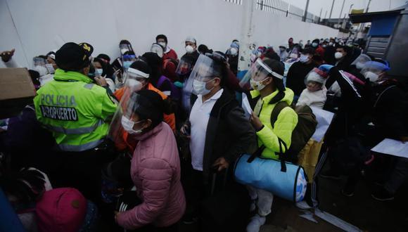 Respecto al panorama sobre las aglomeraciones en Lima a diferencia de provincias, el Gerente General de los Aeropuertos del Perú enfatizó que en las regiones no hubo problemas al momento de abordar los aviones. (Foto: Cesar Grados/GEC)