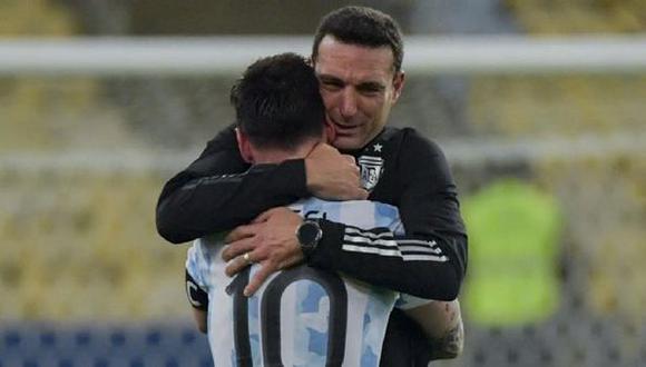 Lionel Scaloni ya piensa en el equipo para encarar el Perú vs. Argentina del jueves. (Foto: AFP)