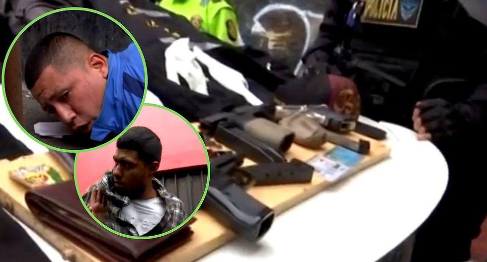 Detienen a 2 sujetos que habrían planeado asaltar un banco en Centro de Lima  VIDEO