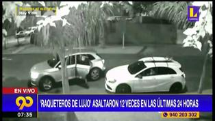 Delincuentes se transportan en autos de lujo y logran asaltar más de 12 veces en 24 horas en Surco