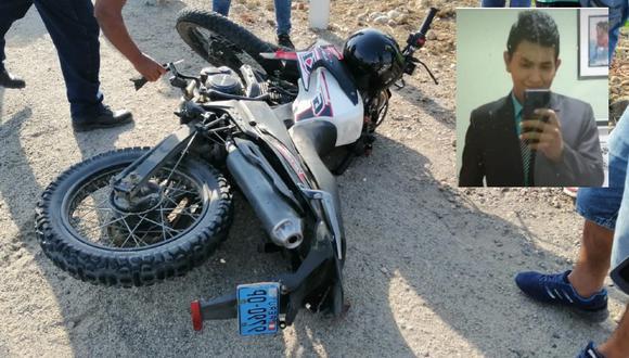 Piura: Estudiante de Medicina, Luis Alberto Sócola Castillo (19) , muere tras chocar su moto contra la parte posterior de una mototaxi.