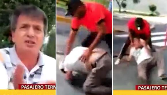 Taxista agarra a golpes a pasajero que se negó a pagar dos soles (VIDEO)