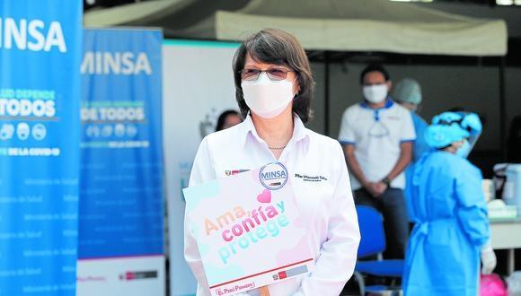 Pilar Mazzetti se vacunó contra el COVID-19 el día que aseguró que Perú pasaba por una segunda ola  (Foto: Violeta Ayasta/GEC)