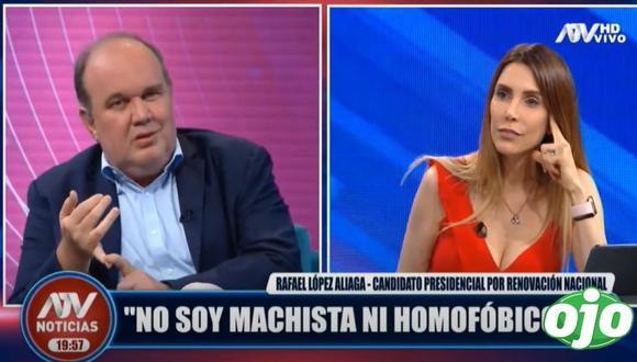 Candidato presidencial Rafael López Aliaga hizo polémica comparación. (Foto: ATV)