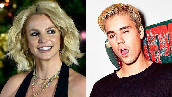 ¡No puede ser! ¿Britney Spears quiere besuquearse con Justin Bieber?
