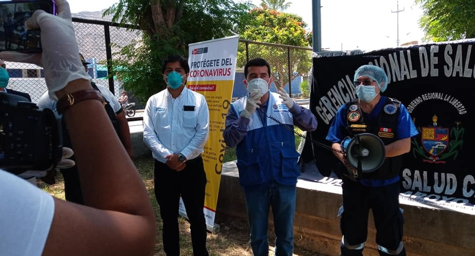 La Gerencia Regional de Salud realiza campañas para prevenir el coronavirus. (Foto: Geresa La Libertad)