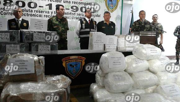 ¡Duro golpe al narcotráfico! Decomisan más de dos toneladas de droga en 10 días
