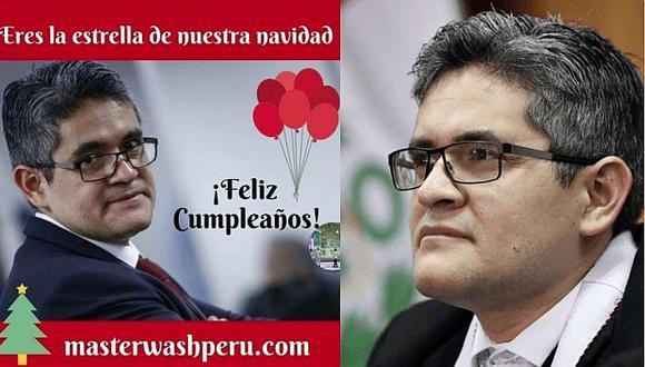 Los emotivos mensajes que le dejaron al fiscal José Domingo Pérez por su cumpleaños