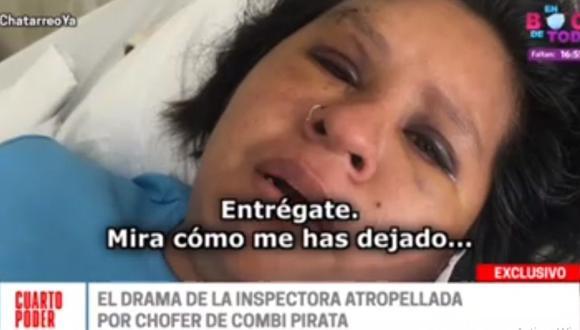 Jacqueline Rosales Ramírez contó qué fue lo que pasó cuando intervino al chofer José Alberto Bermúdez Gonzales. (Cuarto Poder)
