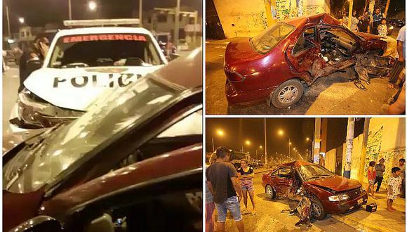 Callao: patrullero a toda velocidad choca contra un auto y deja un herido (FOTOS Y VIDEO)
