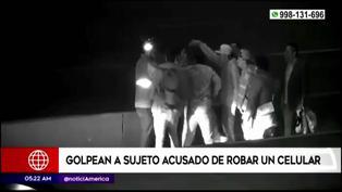 Surco: Pasajeros se bajan de bus para golpear a ladrón en plena Panamericana Sur