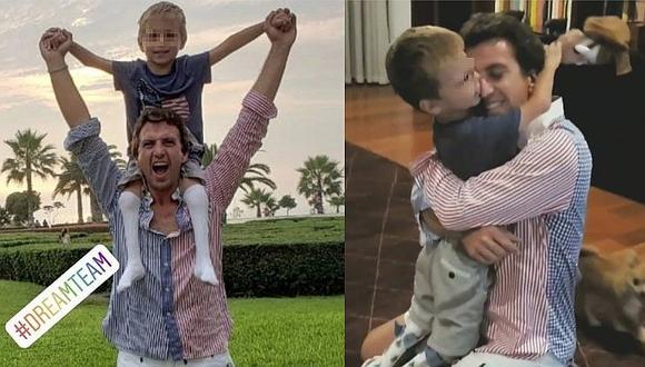 Antonio Pavón y su hijo se reencuentran tras cinco meses de disputa con Sheyla Rojas (FOTOS y VÍDEO)