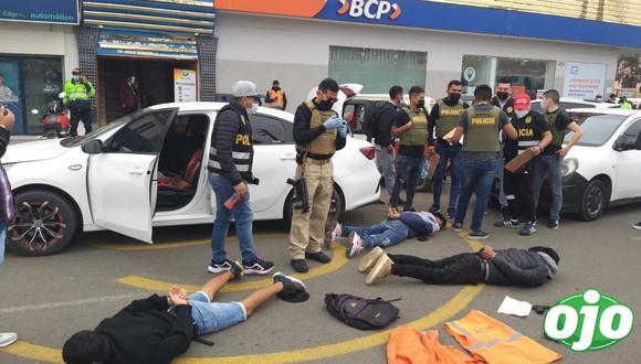 PNP. Frustra asalto a agencia bancaria en los Olivos. Fotos: Difusión