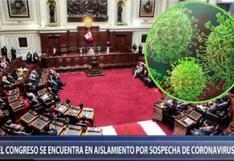 Coronavirus en Perú: funcionaria del Congreso queda en aislamiento ante sospecha de tener el mal | VIDEO